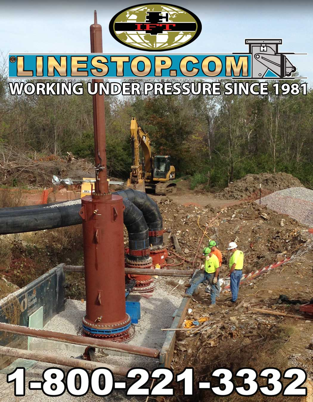 IFT Featured Missouri Job 72inch Linestop through a 36inch hottap with 48inch bypasses
