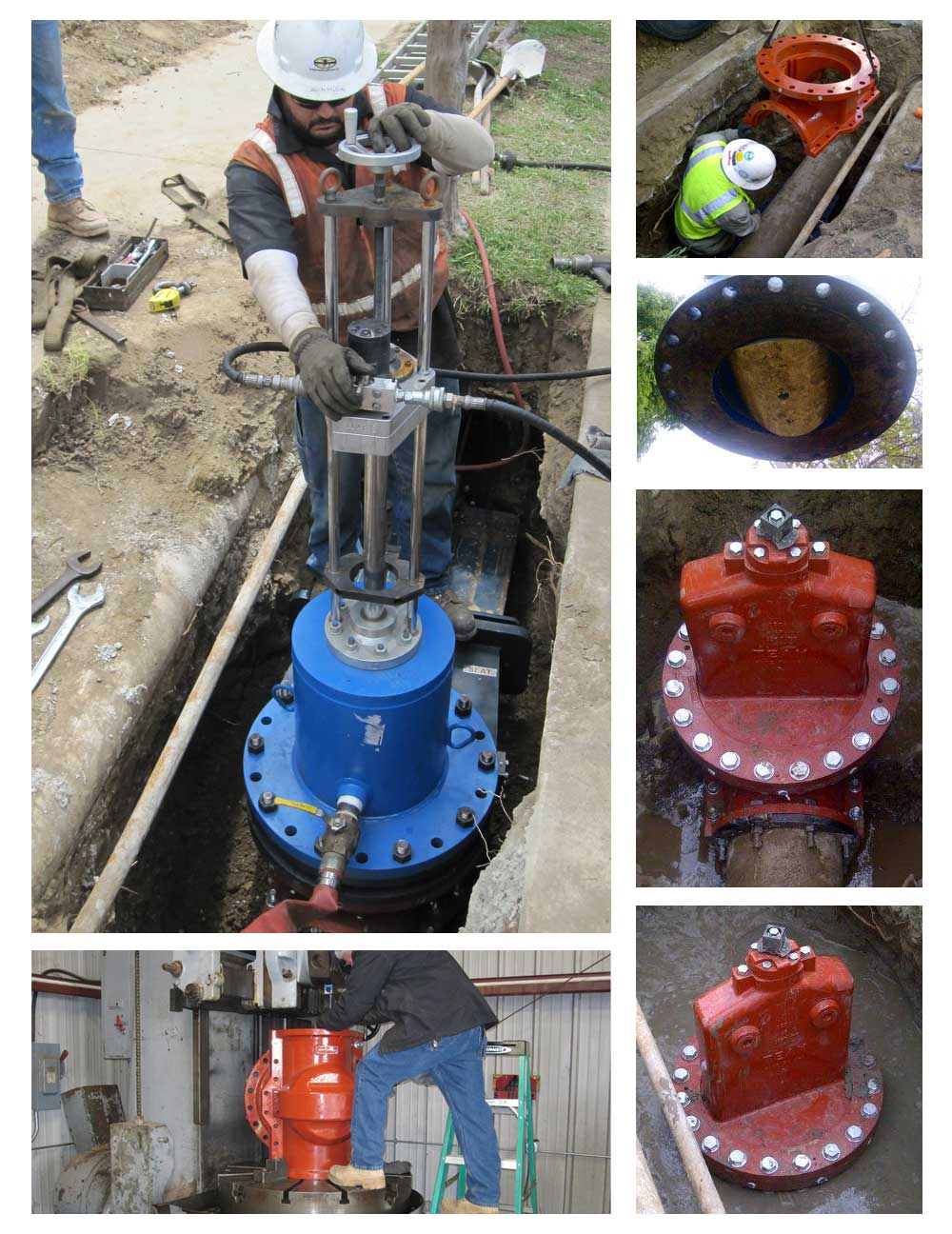 California 12inch Team Insert Valve Installation In Tight Location