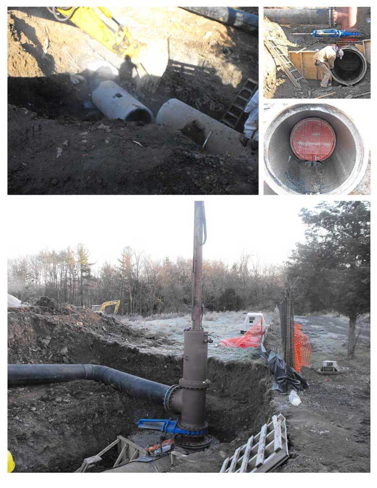 36inch Linestop 24inch Bypass on PCCP Pipe Services
