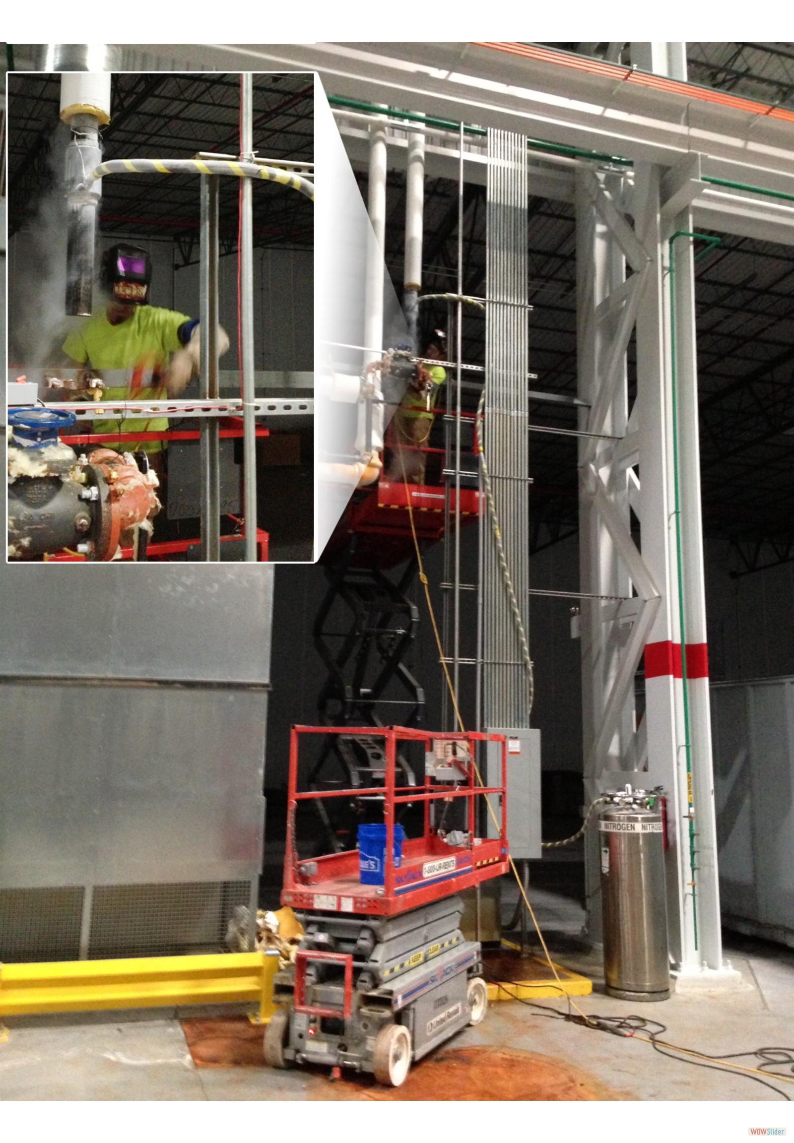 3 inch FreezePlug at the Mitsubishi Wind Turbine Plant in Fort Smith, AR.