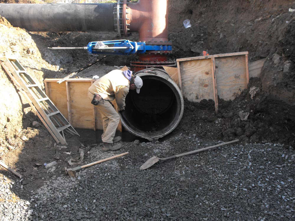 36 inch PCCP Sewage Pipeline Modifications