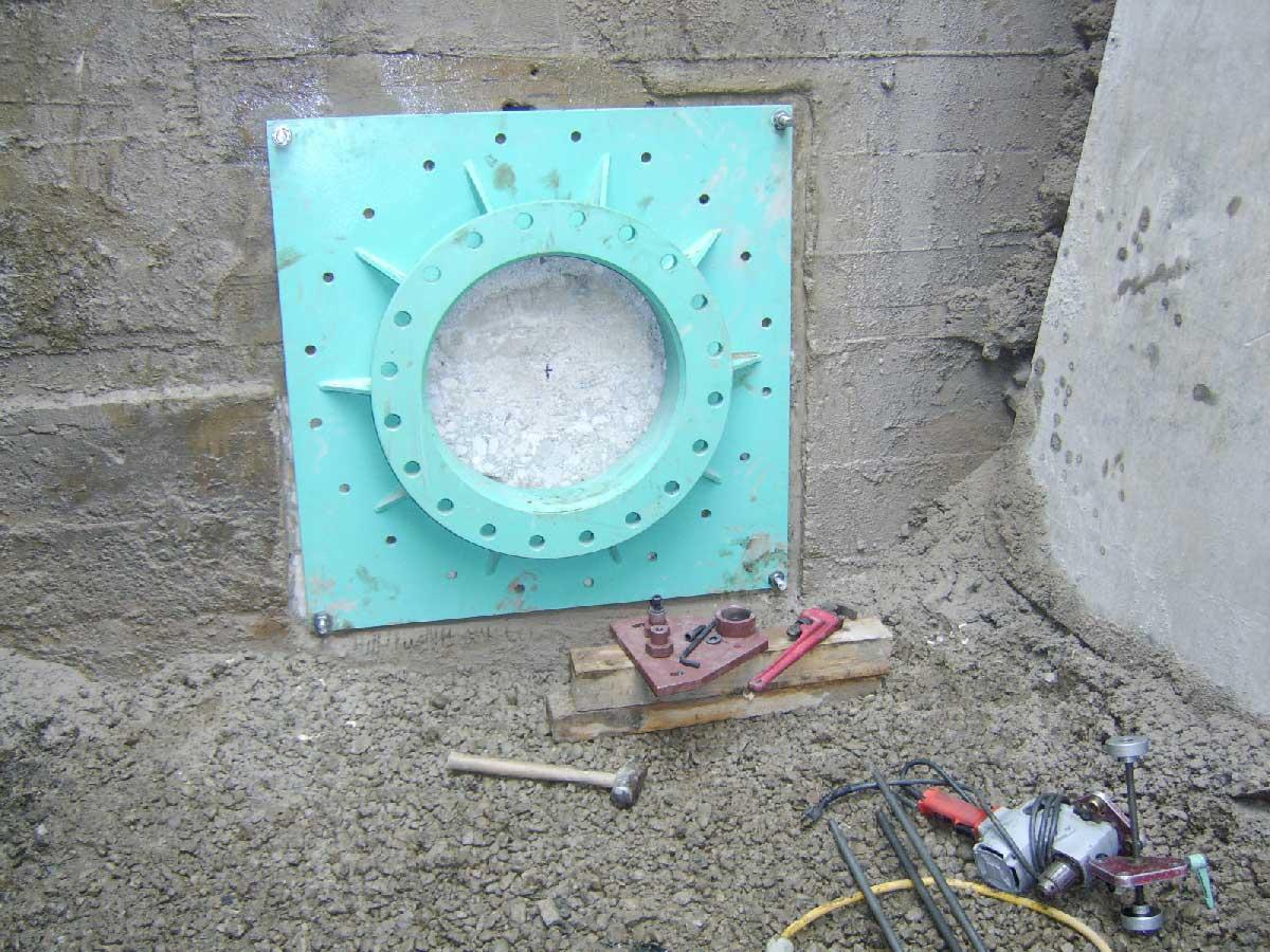Adding the concrete anchor bolts next