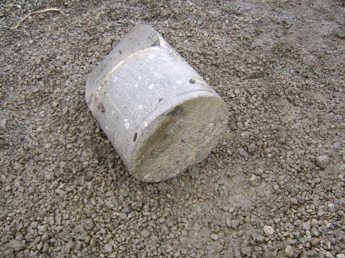 Back View of the 18 Inch Concrete Reinforced Steel Slug